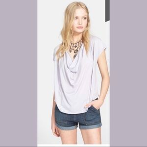 Free People Fantasy Lightweight Cowl Neck Tee